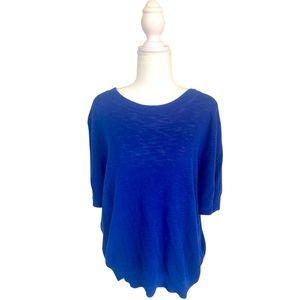 J.Crew XXL 100% cotton knit in cobalt blue